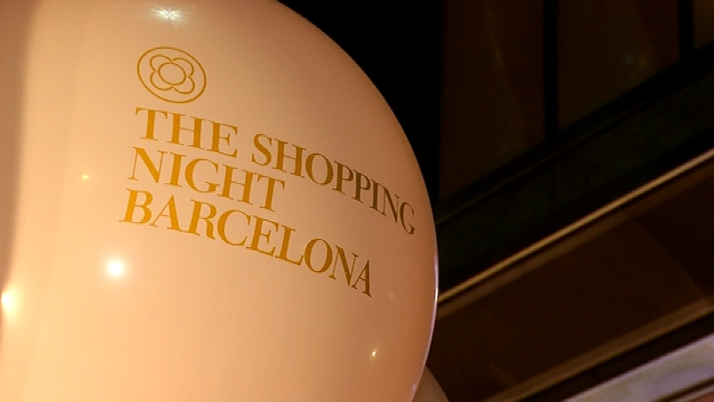 Shopping night Barcelona globus