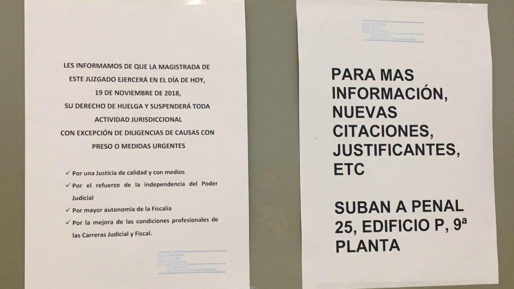 paper informa usuaris vaga jutjats