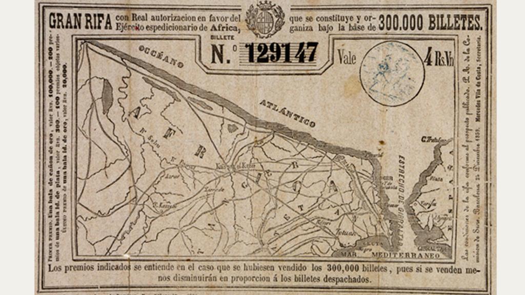 17 rifa 1859 per a les tropes dafrica_aclarir_treure numeros_falsejar marges