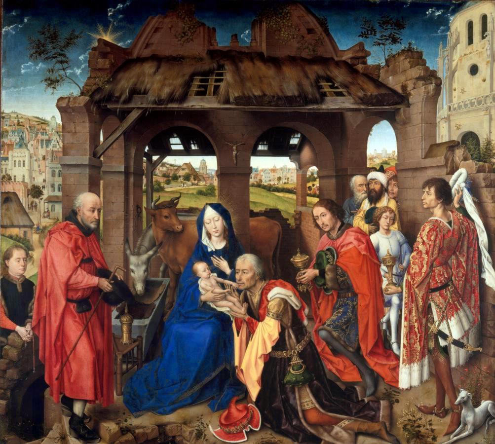 L'adoració dels Reis Mags. Rogier van der Weyden,