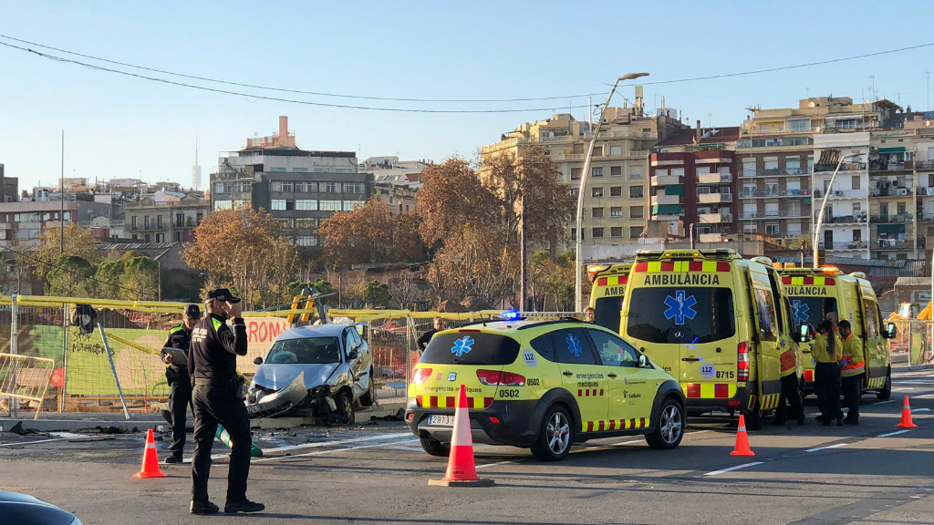 Accident Gran Via Barcelona