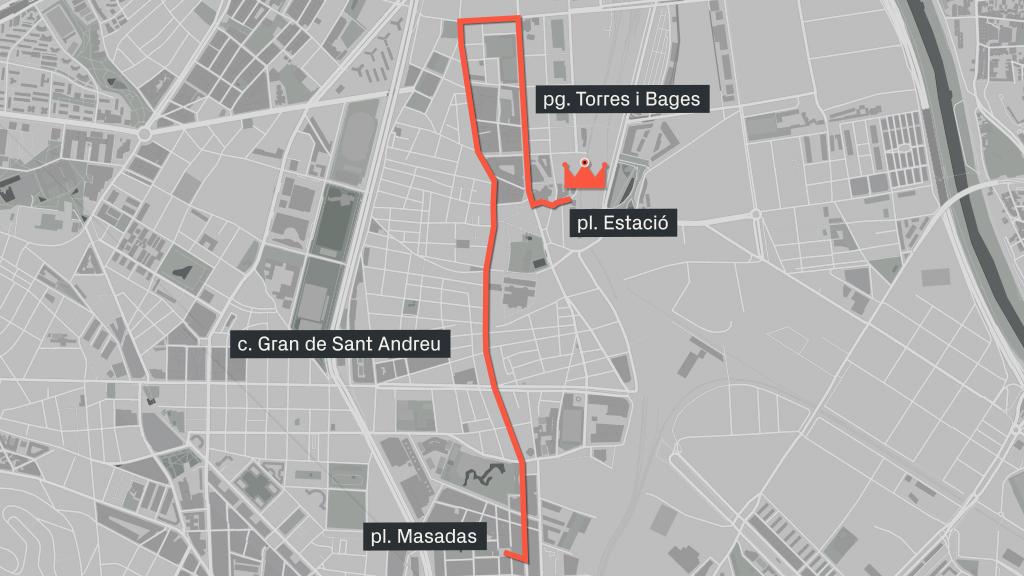 recorregut de la cavalcada de Reis a Sant Andreu i la Sagrera