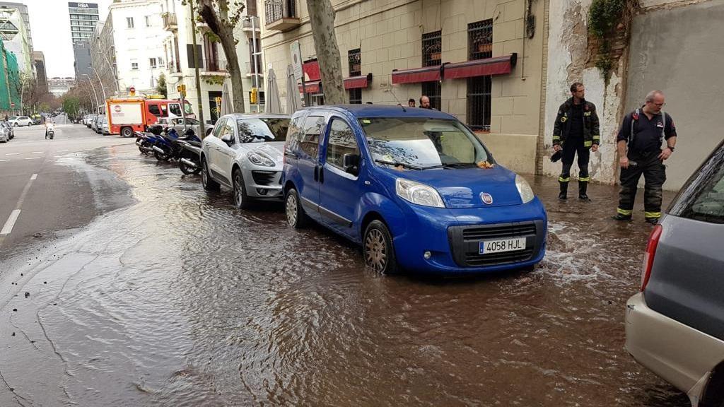 Fuita d'aigua a Roc Boronat