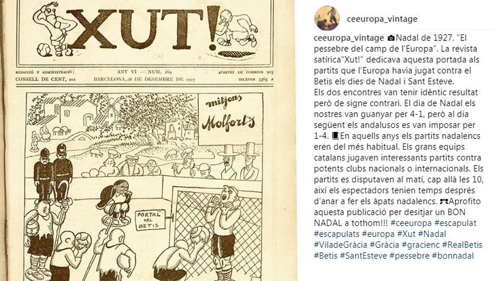 Imatge revista satíria El Xut parla d'un partit de Nadal entre l'Europa i el Betis
