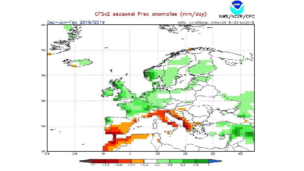 previsió estacional de precipitació