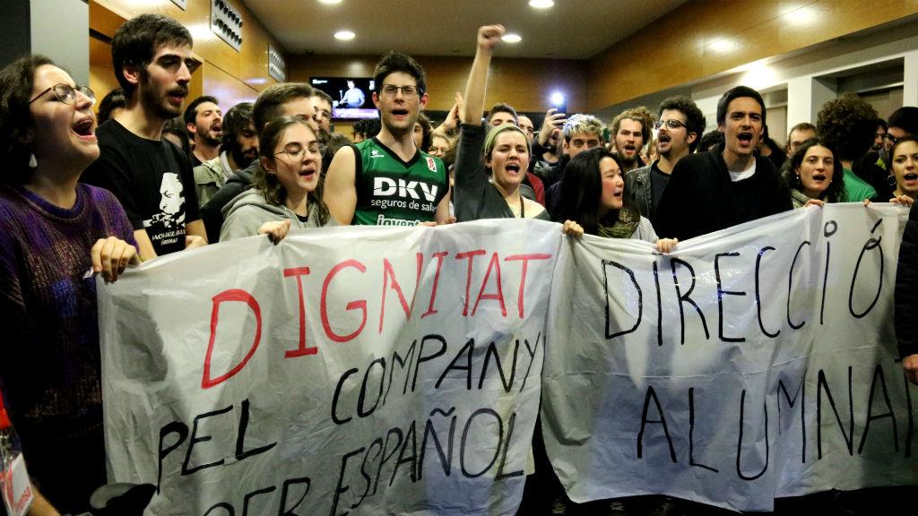 protesta Liceu Valls Rivera