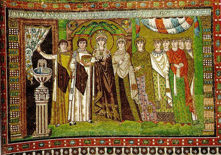 L'emperadriu Teodora i la seva cort