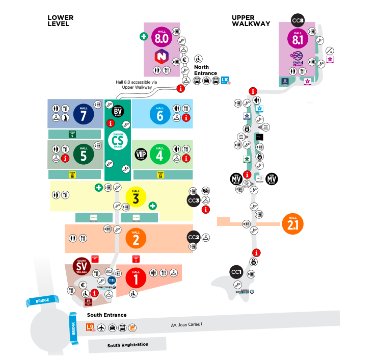 MWC 2019 MAP