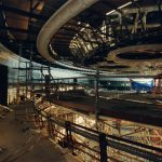Cobriment de la sala del Liceu en obres, 5 de novembre del 1997 - Manolo Laguillo - Arxiu Fundació Gran Teatre del Liceu