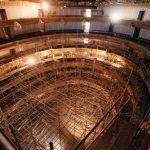La sala ocupada per la bastida d'obres, 29 de juliol del 1998 - Manolo Laguillo - Arxiu Fundació Gran Teatre del Liceu