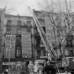 El dia de l'incendi, 31 de gener del 1994 - Rosa Feliu - Arxiu Fotogràfic de Barcelona
