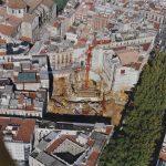 Vista aèria del Liceu en procés de reconstrucció - Arxiu de la Societat del Gran Teatre del Liceu
