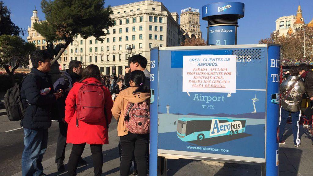 Parada aerobús plaça Catalunya