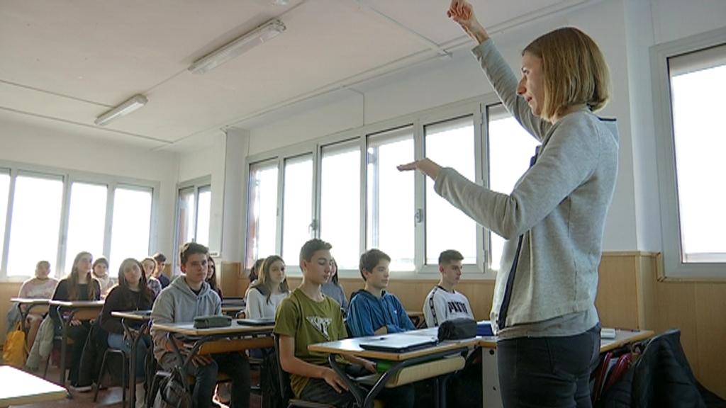 Classe a l'Escola Virolai