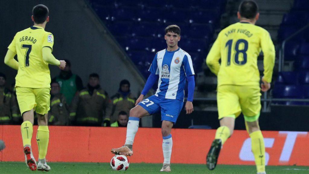 Lluis López durant l'Espanyol - Vila-real