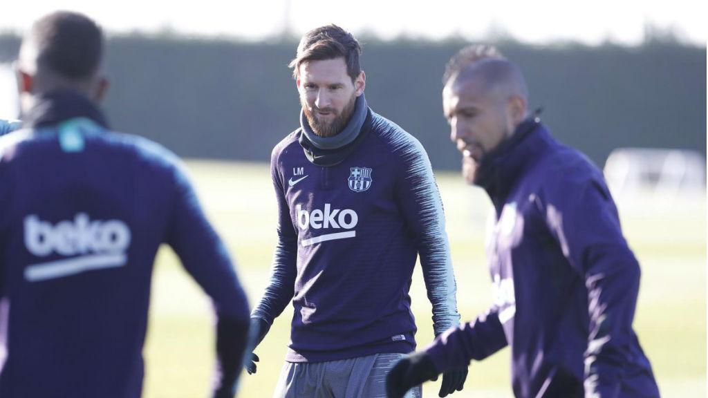 El Barça prepara el partit contra el Llevant