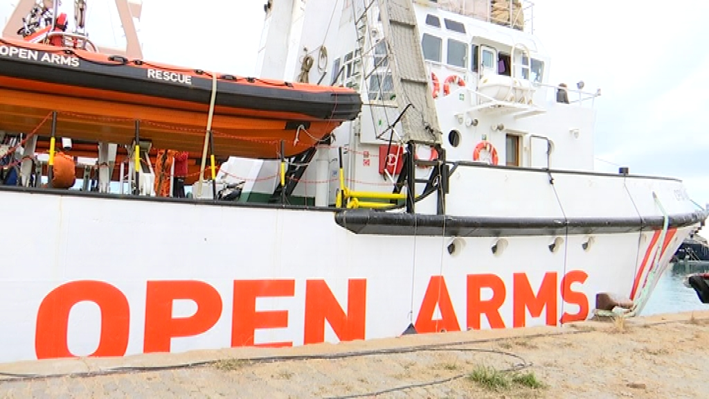 vaixell open arms al port Barcelona