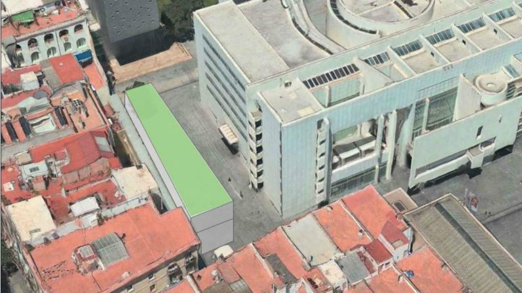Proposta d'ampliació del MACBA feta per l'Ajuntament
