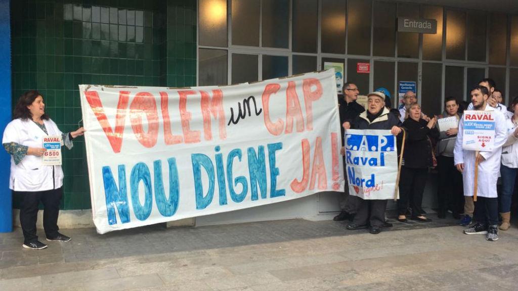 Protesta nou CAP Misericòrdia