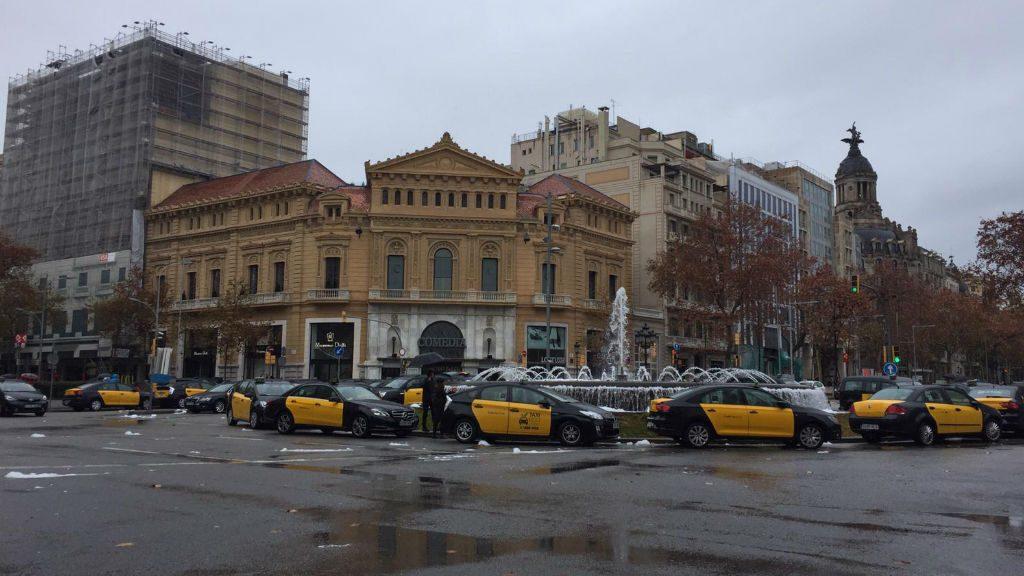 Vaga de taxis a la Gran Via