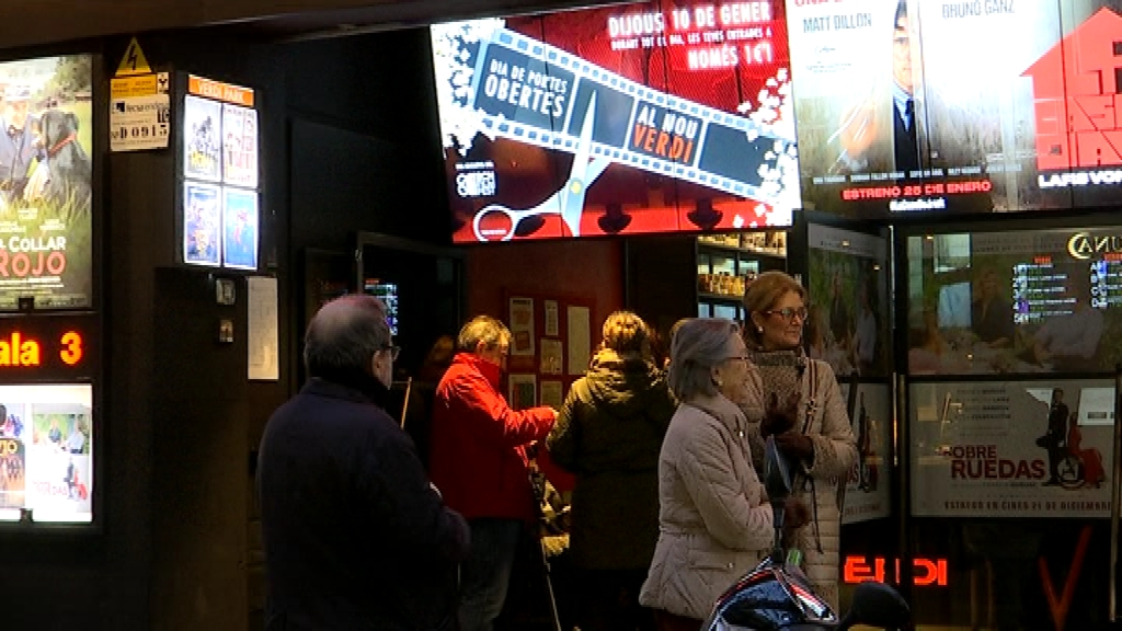 Entrada dels Cinemes Verdi
