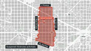 Zona suspensió llicències restauració