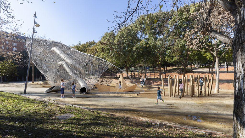 Jocs infantils Parc Central Nou Barris