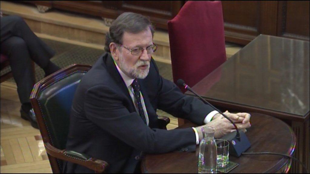 Mariano Rajoy declara al judici del procés