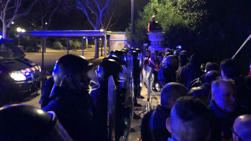Mossos i protesta CDR Felip VI