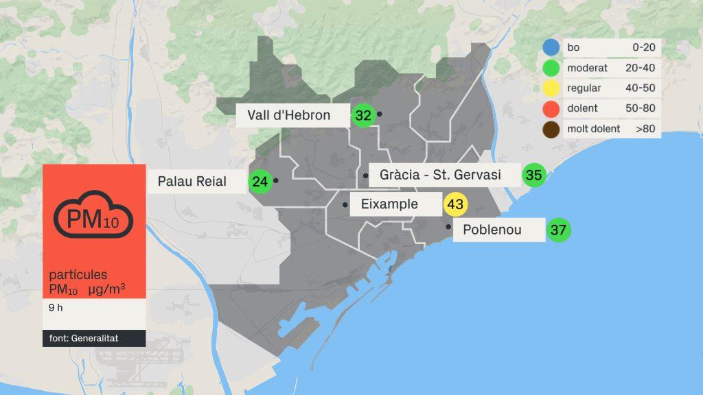 mapa de partícules en suspensió