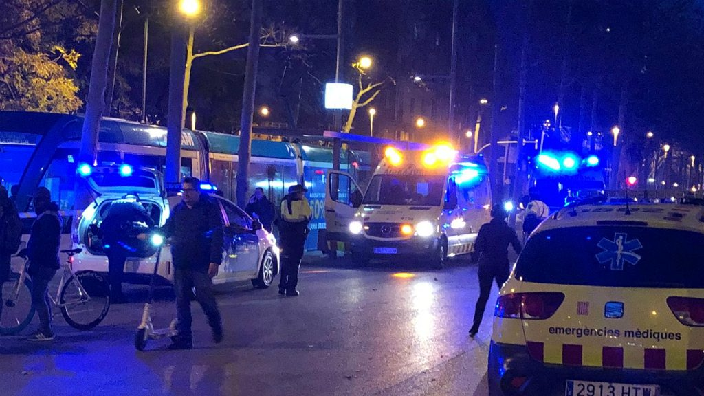 accident tram barcelona