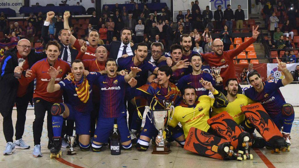 Barça, campió copa del Rei hoquei patins 2018