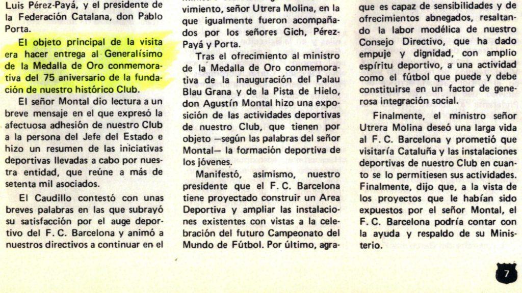 Butlletí FC Barcelona 1974