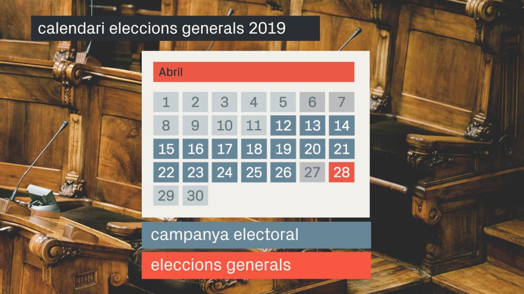 calendari eleccions generals 2019