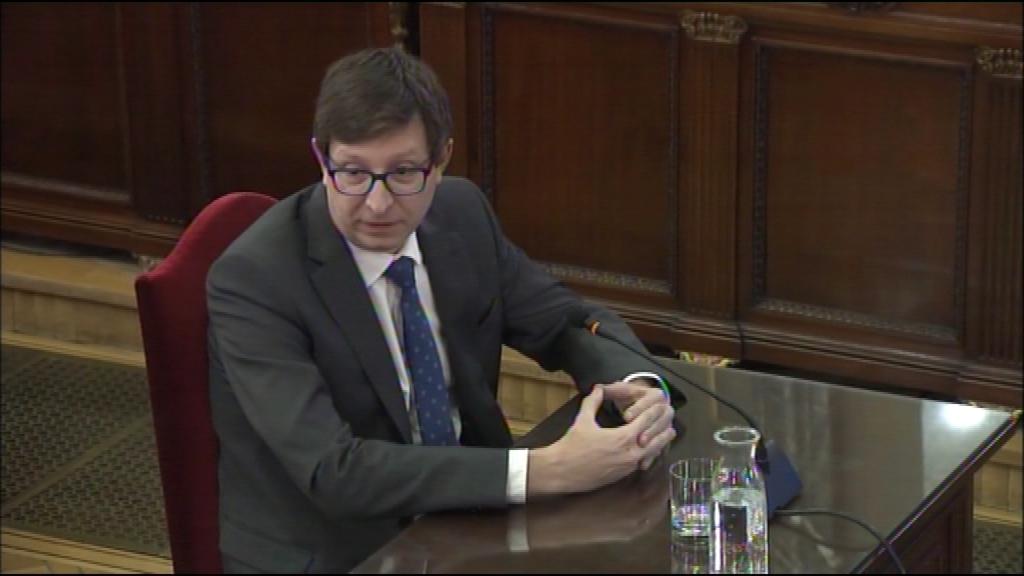 Carles Mundó al Judici del Procés