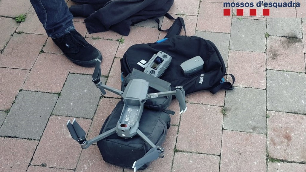 dron interceptat mossos al mobile World Congress