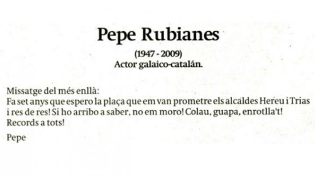 Esquela Pepe Rubianes
