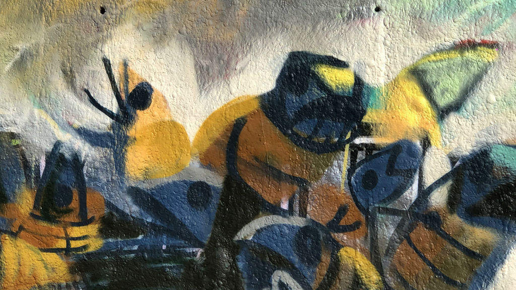 Mural de l'artista Juanjo Surace per No Borders