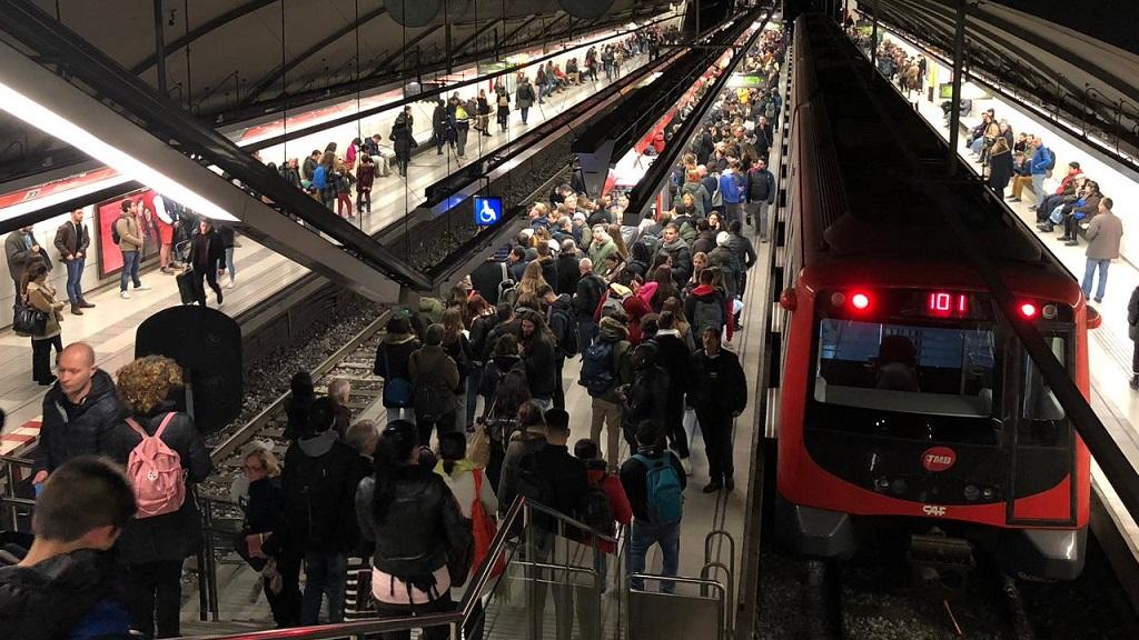 incidència metro barcelona