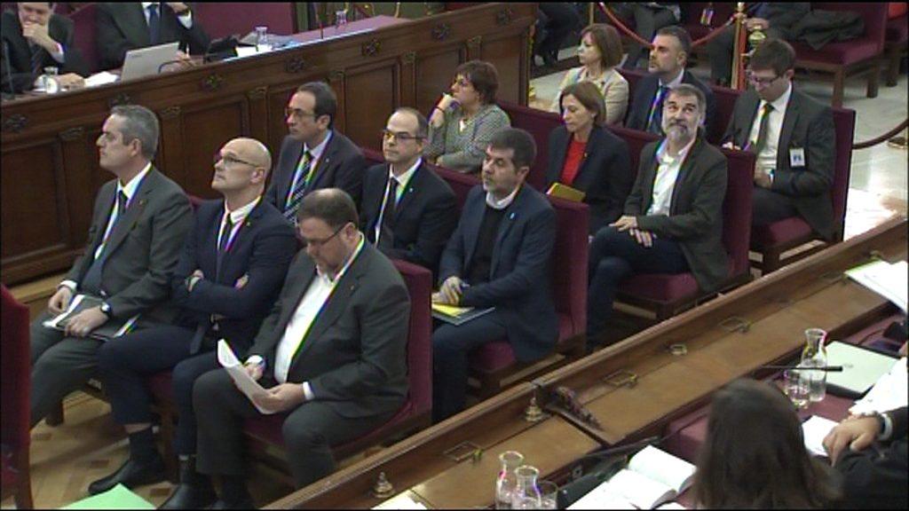 Els líders independentistes acusats en el judici de l'1-O