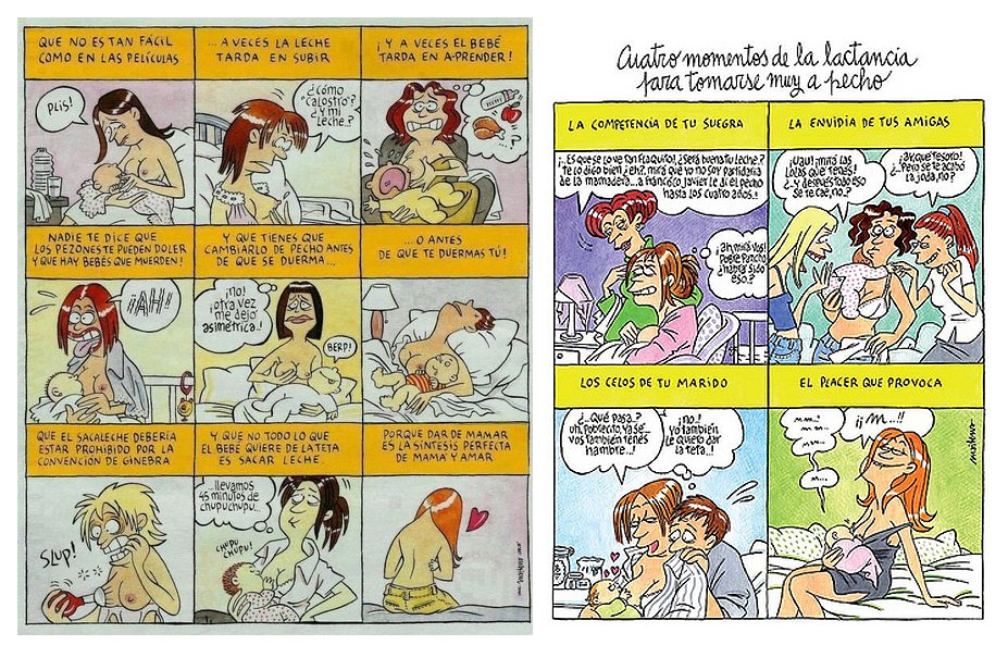 Maitena reflecteix les dificultats amb que es troben les dones per alletar en les seves tires de còmic