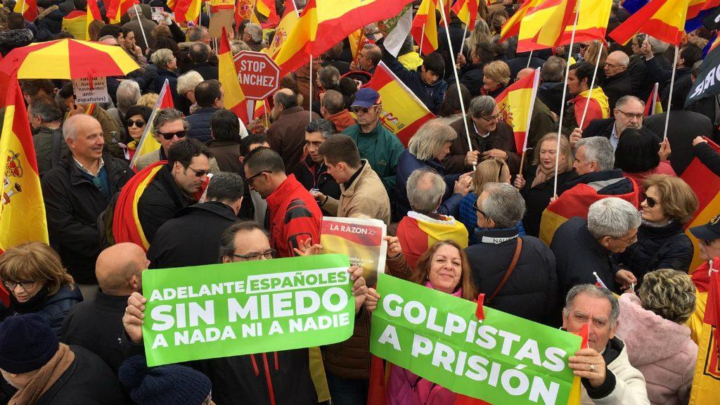Manifestació contra Pedro Sánchez a Madrid