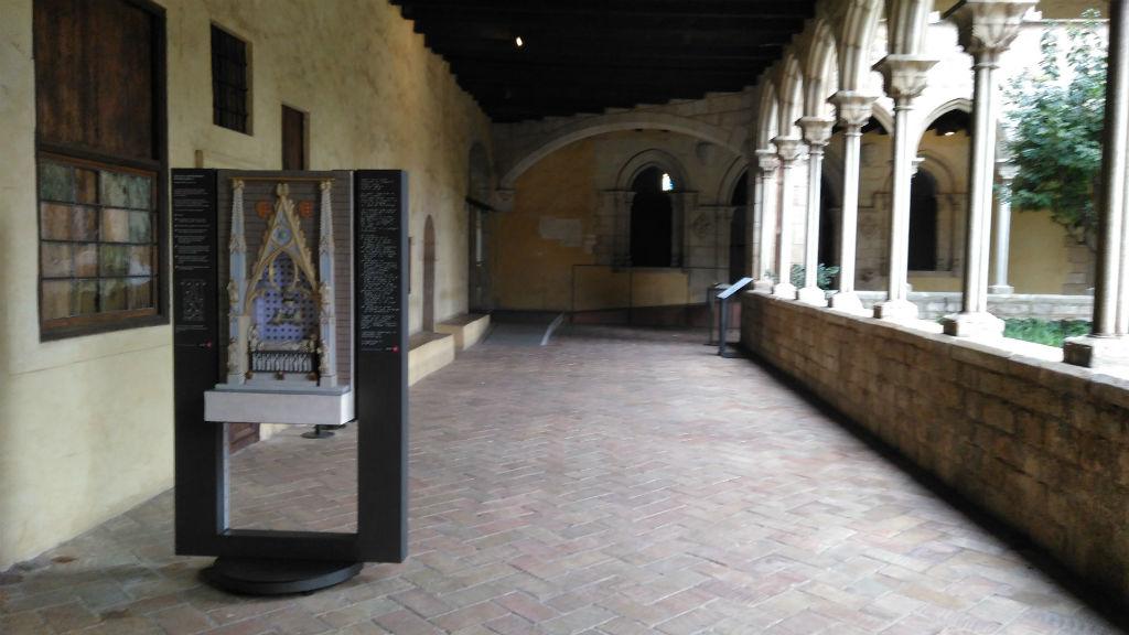 maqueta monestir de pedralbes tomba reina elisenda