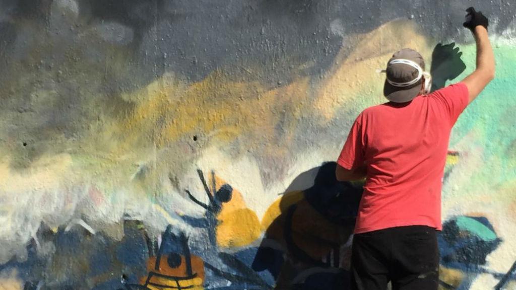 Art urbà a les Tres Xemeneies - Projecte No Borders