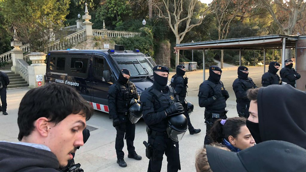 mossos protesta cdr rei felip