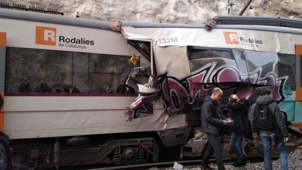 Xoc de trens a Castellgalí el 8 de febrer de 2019