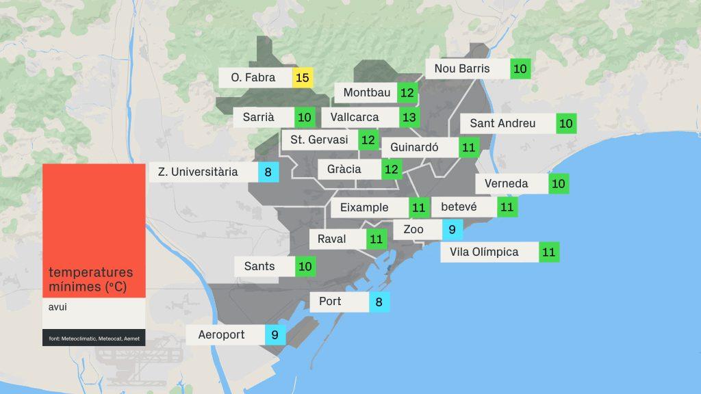 mapa de mínimes