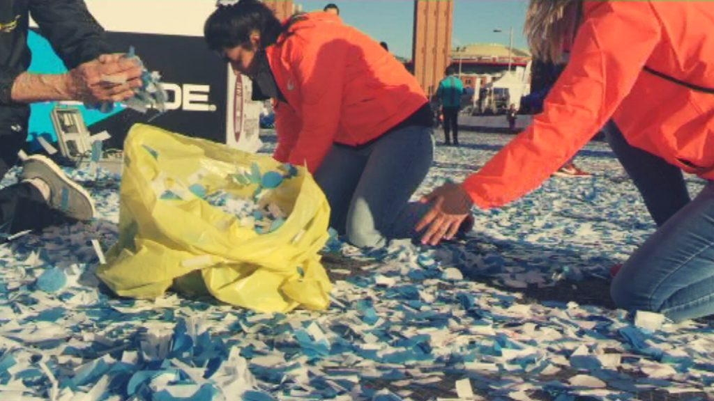 Neteja confeti Marató de Barcelona