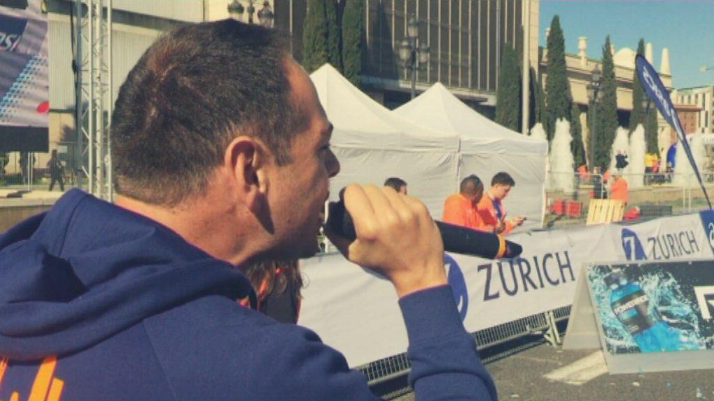 Alberto Montenegro, speaker Marató de Barcelona