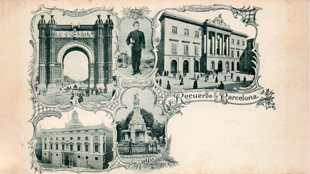 primera postal barcelona 1894
